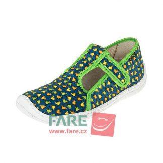 chlapcenske barefoot papuce zelene