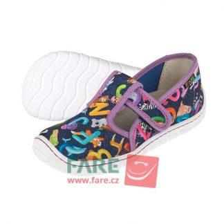 dievcenske barefoot papuce pismenkove